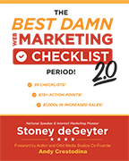 An Image of The Best Damn Web Marketing Checklist Period! 2.0 Book Cover